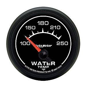 Autometer - Auto Meter ES Series, Water Temperature 100*-250*F (Short Sweep Electric)