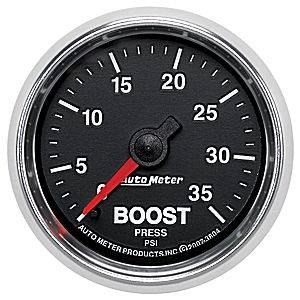 Autometer - Auto Meter GS Series, Boost Pressure 0-35psi (Mechanical)