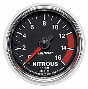 Autometer - Auto Meter GS Series, Nitrous Pressure 0-1600psi (Full Sweep Electric)