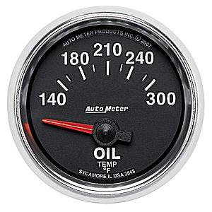 Autometer - Auto Meter GS Series, Oil Temperature 140*-300*F (Short Sweep Electric)
