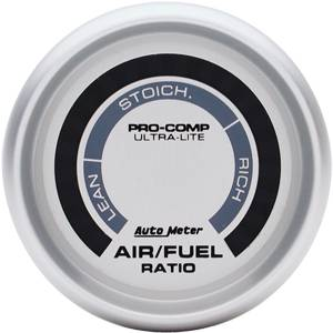 Autometer - Auto Meter Ultra Lite Series, Air Fuel Ratio-Lean-Rich (Full Sweep Electric)