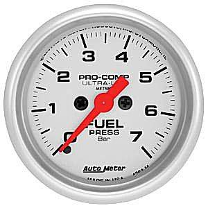 Autometer - Auto Meter Ultra Lite Series, Fuel Pressure 0-7 BAR (Full Sweep Electric)