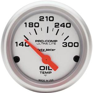 Autometer - Auto Meter Ultra Lite Series, Oil Temperature 140*-300*F (Short Sweep Electric)