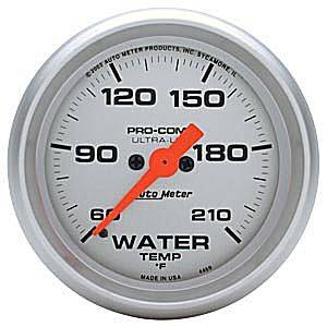 Autometer - Auto Meter Ultra Lite Series, Water Temperature 60*-210*F (Full Sweep Electric)