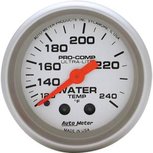 Autometer - Auto Meter Ultra Lite Series, Water Temperature 120*-240*F (Mechanical)