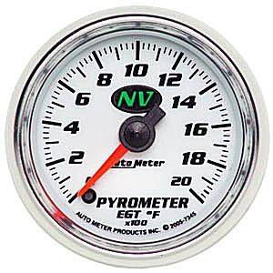 Autometer - Auto Meter NV Series, Pyrometer Kit 0*-2000*F (Full Sweep Electric)