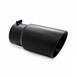 "MBRP - MBRP Exhaust Tip 5"" inlet, 6"" outlet, angle cut 12"" long, Black Dual Wall"