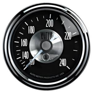 Autometer - Auto Meter Prestige Series, Black Diamond, Water Temperature 120-240 deg. F (Mechanical)