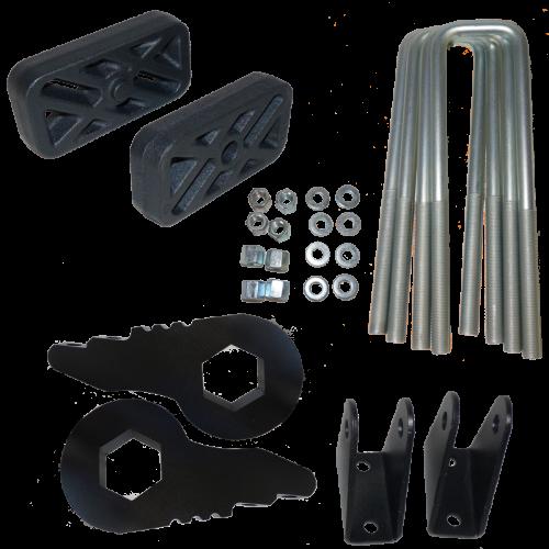 "Traxda - TraxdaLeveling Kit, Chevy/GMC (2000-10) 1500HD, 2500HD, 3500HD, (00-13) Suburban/Yukon XL, & (01-06) Avalanche, 3"" Front / 1"" Rear (fits 2wd & 4x4)"