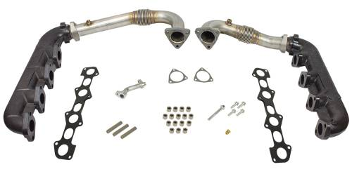 BD Power - BD Diesel Performance Exhaust Manifold & Up-Pipe Kit, Ford (2008-10) 6.4L Power Stroke