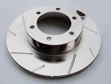 Diamond T Enterprises - Diamond T Performance Brake Rotor Pair, Chevy/GMC (DTE-T55-075) Slotted, Gray ZRC Finish