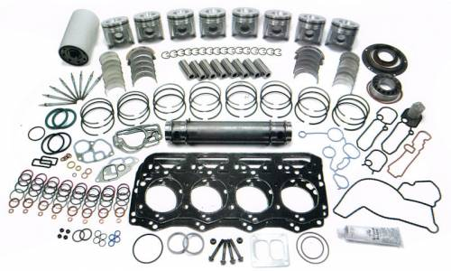 Ford Genuine Parts - Ford Motorcraft Overhaul Kit, Ford (1994-03) 7.3L Power Stroke, 0.02 Over Sized Pistons