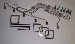 """Scheid Diesel - Scheid Diesel Pre-Bent Injection Line Kit, 24V Cummins with P Pump, 0.078"""" mild steel"""