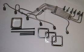 """Scheid Diesel - Scheid Diesel Pre-Bent Injection Line Kit, 24V Cummins with P Pump, 0.084"""" mild steel"""