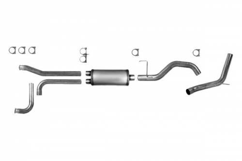 "Diamond Eye Performance - Diamond Eye 3.5"" Cat Back Exhaust, Nissan (2007-09) Titan, 5.6L Gas, Single, Aluminized"