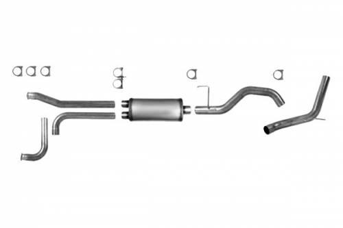 "Diamond Eye Performance - Diamond Eye 3.5"" Cat Back Exhaust, Nissan (2004-14) Titan, 5.6L Gas, Single, Aluminized"
