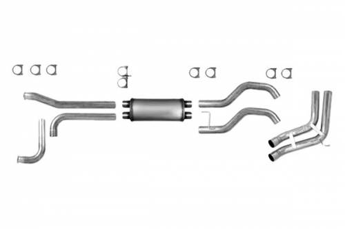 "Diamond Eye Performance - Diamond Eye 3.5"" Cat Back Exhaust, Nissan (2007-09) Titan, 5.6L Gas, Sport Side Dual, Aluminized"