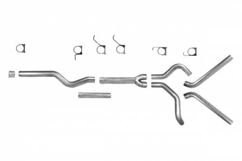 "Diamond Eye Performance - Diamond Eye 4"" Cat Back Exhaust, Dodge (2004.5-07) 2500-3500, 5.9L Cummins, Dual, Aluminized (No Muffler)"