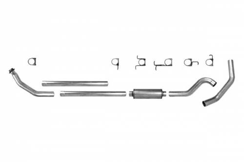 "Diamond Eye Performance - Diamond Eye 4"" Turbo Back Exhaust, Dodge (1994-02) 2500/3500, 5.9L Cummins, Single, Aluminized"