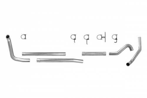 "Diamond Eye Performance - Diamond Eye 4"" Turbo Back Exhaust, Ford (1999-03) F250 & F350, 7.3L Power Stroke, Single, Aluminized (No Muffler) Cab & Chassis"