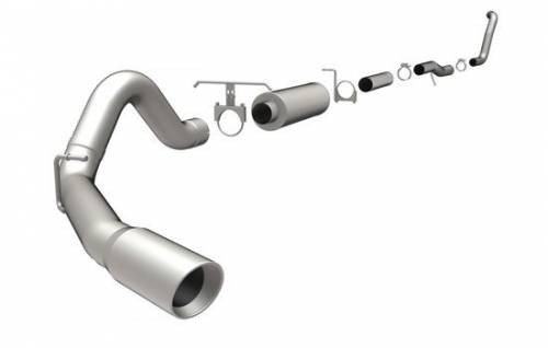 "Magnaflow - MagnaFlow 4"" Turbo Back, MagnaFlow Series Exhaust, Ford (2003-05) Excursion 6.0L Diesel, Side Rear Exit, Stainless, 4"" Downpipe"
