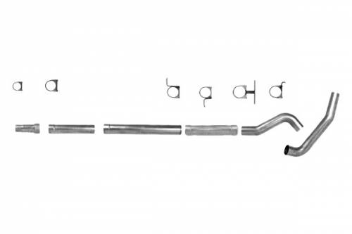 "Diamond Eye Performance - Diamond Eye 5"" Cat Back Exhaust, Ford (1994-97.5) F250/F350, 7.3L Power Stroke, Single, Aluminized (No Muffler)"