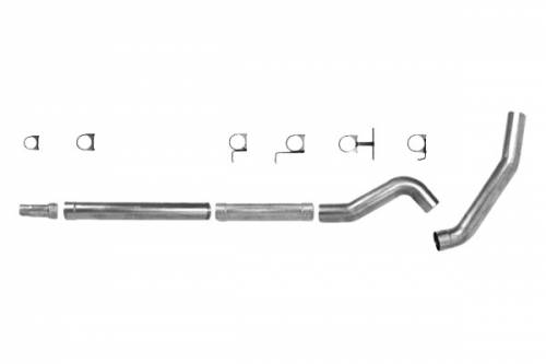 "Diamond Eye Performance - Diamond Eye 5"" Cat Back Exhaust, Ford (2003-07) F250/F350, 6.0L Power Stroke, Single, Aluminized (No Muffler)"