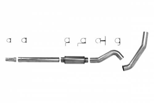 "Diamond Eye Performance - Diamond Eye 5"" Cat Back Exhaust, Ford (2003-07) F250/F350, 6.0L Power Stroke, Single, Aluminized"