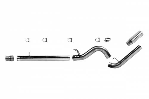 "Diamond Eye Performance - Diamond Eye 5"" D.P.F. Back Exhaust, Ford (2008-10) F250/F350, 6.4L Power Stroke, Single, Aluminized"