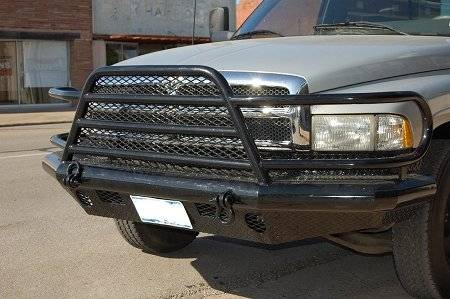 Tough Country - Tough Country Custom Deluxe Front Bumper, Dodge (1996-02) 2500 & 3500