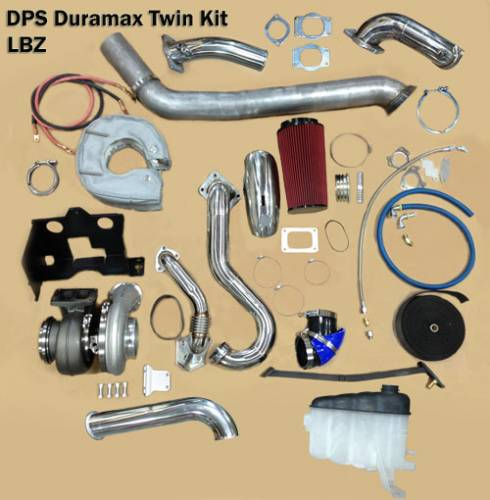"Diesel Power Source - Diesel Power Source Twin Turbo Kit, Chevy/GMC (2006-07) 6.6L Duramax LBZ, Stock Turbo/S475, ""Stocker S475 Kit"""