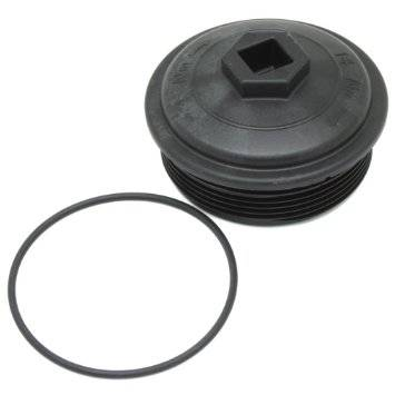 Ford Genuine Parts - Ford Motorcraft Fuel Filter Cap, Ford (2003-10) 6.0L Powerstroke F-250/F-350/F-450/F-550, Excursion, & E-250/E-350/E-450
