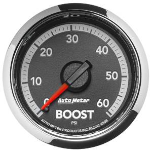 Autometer - Auto Meter Dodge 4th GEN Factory Match, Boost Pressure (8508), 60psi (Mechanical)