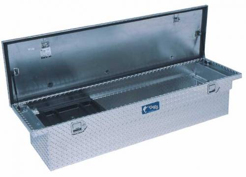 "UWS Tool Boxes - UWS Truck Tool Box, 72""L x 19.25""W x 13.5""H Aluminum Diamond Plate, Single Lid, Low Profile"