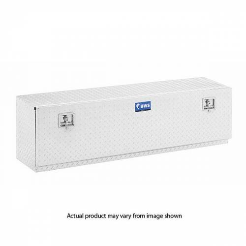"UWS Tool Boxes - UWS Top Sider Tool Box, 60""L x 13""W x 17""H Aluminum Diamond Plate, Single Door"