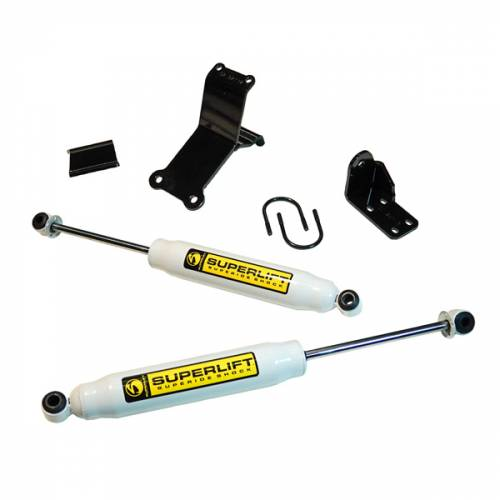 Superlift - Superlift Dual Steering Stabilizer Kit, Dodge (2014-15) 2500 & (13-15) 3500, 4x4, Superide Shocks (High Clearance)