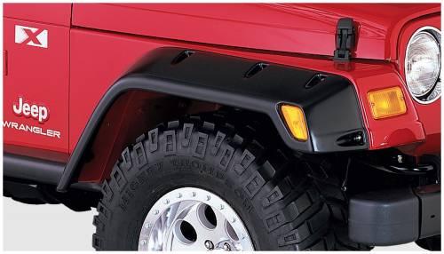 Bushwacker - Bushwacker Fender Flares,Jeep (1997-06) Wrangler Sport/SE/Sahara/X (2003-06) Wrangler Rubicon/Unlimited  Fender FlareFront Pair(Pocket Style)