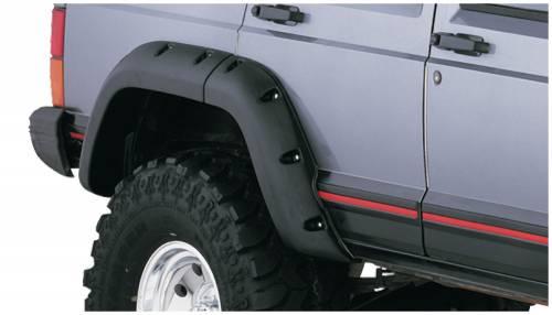 Bushwacker - Bushwacker Fender Flares,Jeep (1984-01) Cherokee Rear Pair(Cut-Out)