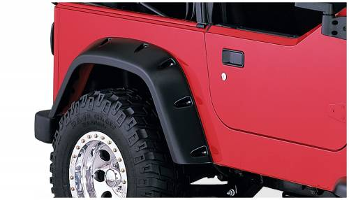 Bushwacker - Bushwacker Fender Flares,Jeep (1997-06) Wrangler Fender Flare Rear Pair(Pocket Style)