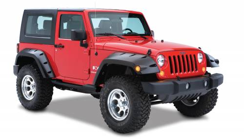 Bushwacker - Bushwacker Fender Flares,Jeep (2007-14) Wrangler JK Extended Coverage Fender Flare Rear Pair(Pocket Style)