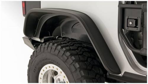 Bushwacker - Bushwacker Fender Flares, Jeep (2007-13) Wrangler Rear Pair OE Matte Black (Flat Style)