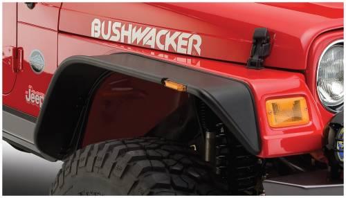 Bushwacker - Bushwacker Fender Flares, Jeep (1997-06) Wrangler Front Pair OE Matte Black (Flat Style)