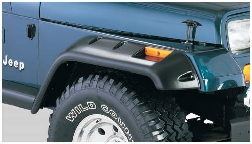 Bushwacker - Bushwacker Fender Flares,Jeep (1987-95) Wrangler Front Pair(Cut-Out)