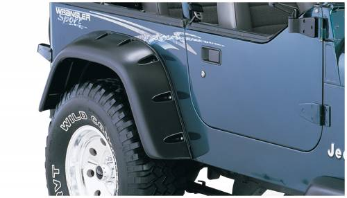 Bushwacker - Bushwacker Fender Flares,Jeep (1987-95) Wrangler Rear Pair(Cut-Out)
