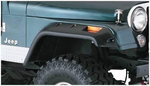 Bushwacker - Bushwacker Fender Flares,Jeep (1956-58) Willys (1959-75) CJ6 (1966-68) CJ6A (1976-86) CJ7 Front Pair(Cut-Out)