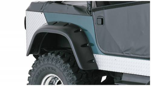 Bushwacker - Bushwacker Fender Flares,Jeep (1956-58) Willys (1959-75) CJ6 (1966-68) CJ6A (1976-86) CJ7 Rear Pair(Cut-Out)