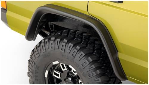 Bushwacker - Bushwacker Fender Flares, Jeep (1984-01) Cherokee Rear Pair OE Matte Black (Flat Style)