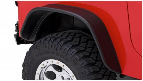 Bushwacker - Bushwacker Fender Flares, Jeep (1987-95) Wrangler Rear Pair OE Matte Black (Flat Style)