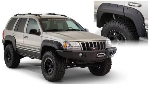Bushwacker - Bushwacker Fender Flares,Jeep (1999-04) Grand Cherokee Rear Pair(Cut-Out)