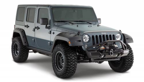 Bushwacker - Bushwacker Fender Flares,Jeep (2007-14) wrangler X/Unlimited X/Unlimited Sahara/Unlimited Rubicon/Sahara/Rubicon Factory Coverage Fender Flare Rear Pair(Pocket Style)